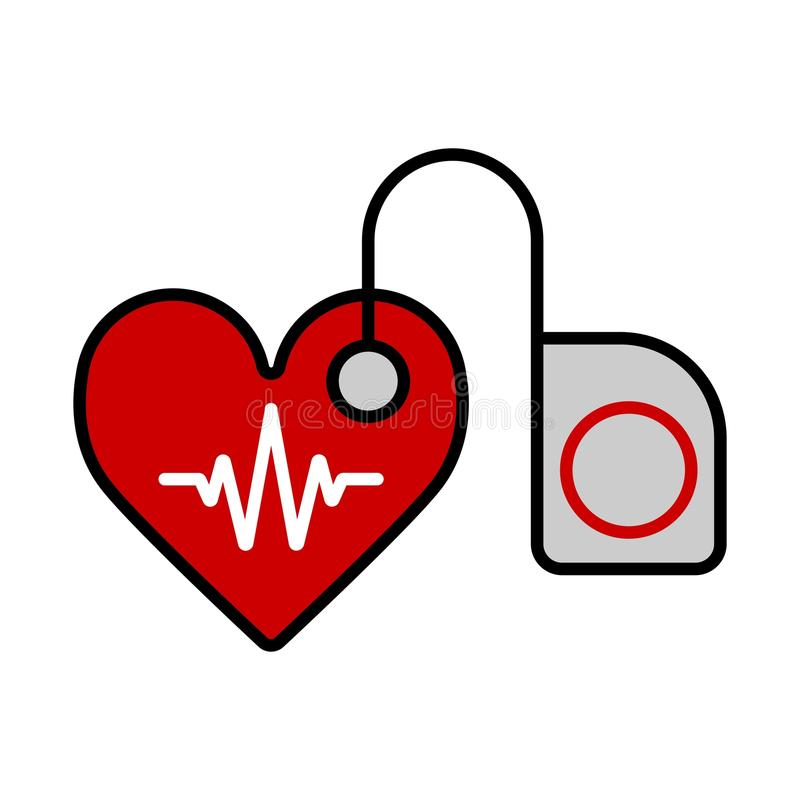 Stethoskop, phonendoscope medizinische lokalisierte Vektorillustration Feste und flache Ikone stock abbildung
