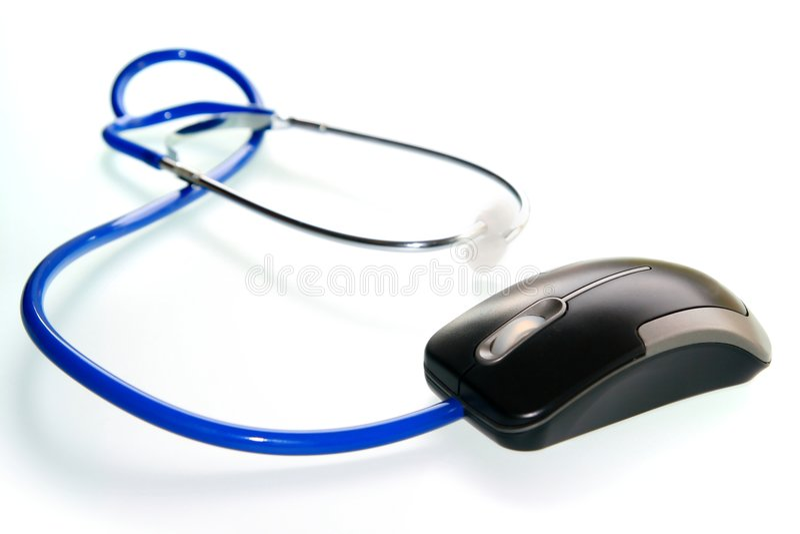 Stethoskop und der Maus lizenzfreies stockbild