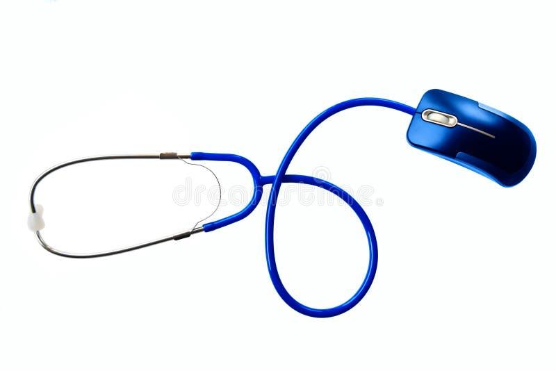 Stethoskop und der Maus stockfotos