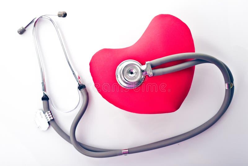 Stethoskop und Inneres stockbild