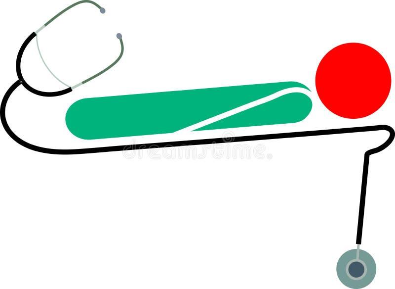 Stethoskop und Patient stock abbildung
