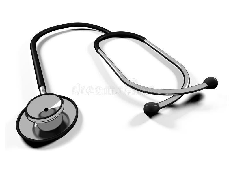 stetoscopio del medico 3d illustrazione vettoriale