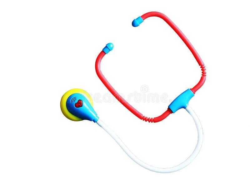 Stetoscopio nella medicina, gioco per i bambini immagine stock libera da diritti
