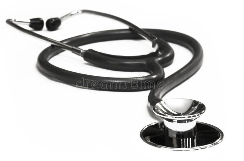 Stetoscopio nero immagini stock
