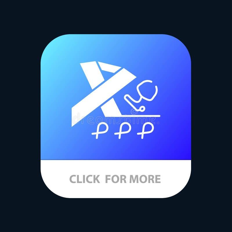 Stetoscopio, salute, nastro, progettazione mobile dell'icona del App di consapevolezza royalty illustrazione gratis