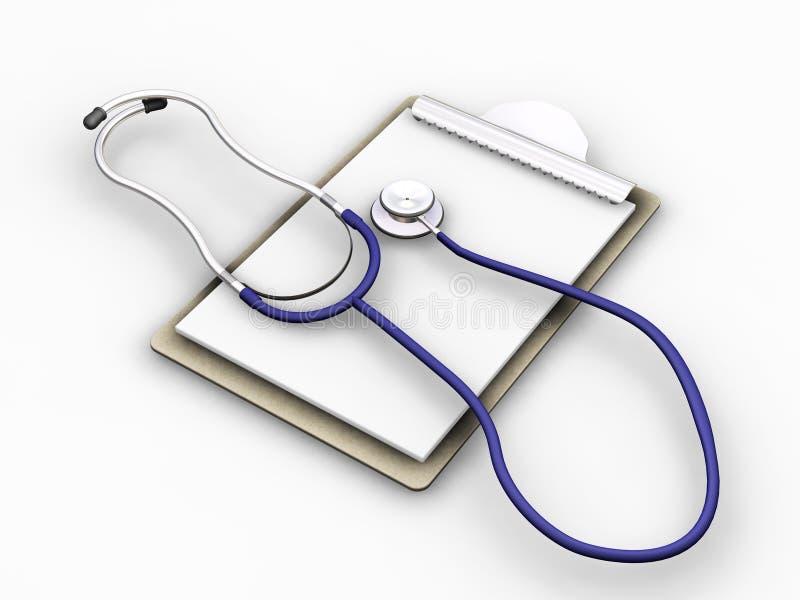 Stetoscopio sui appunti fotografie stock