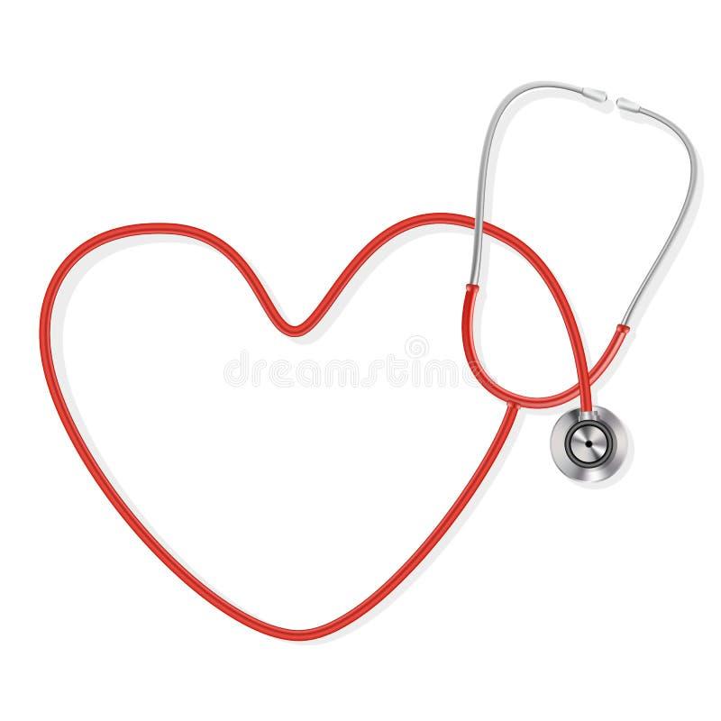 Download Stetoskop ilustracja wektor. Ilustracja złożonej z pacjent - 28969299