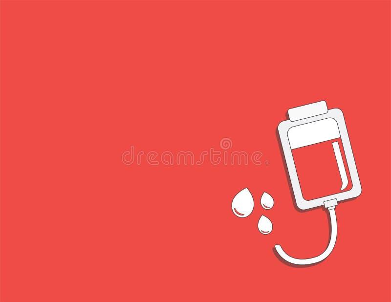 stetoskop för pengar för begreppsliesmedicin set donera blod och spara liv Donation ger förälskelse ullustrationklistermärkeuppsä royaltyfri illustrationer