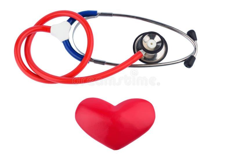 Stetoskop i serce zdjęcie royalty free
