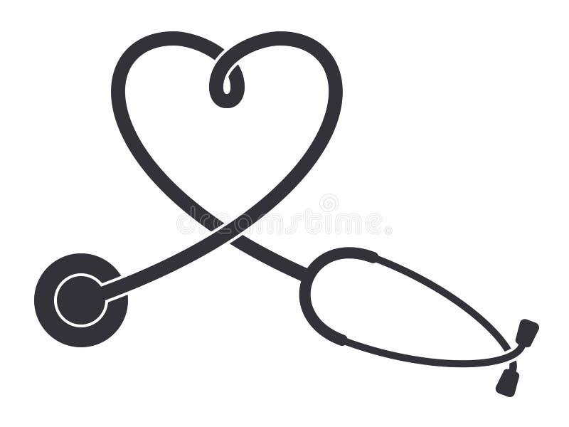 Stetoskop ikona ilustracji