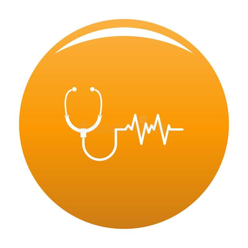 Stetoskop ikony pomarańcze ilustracji