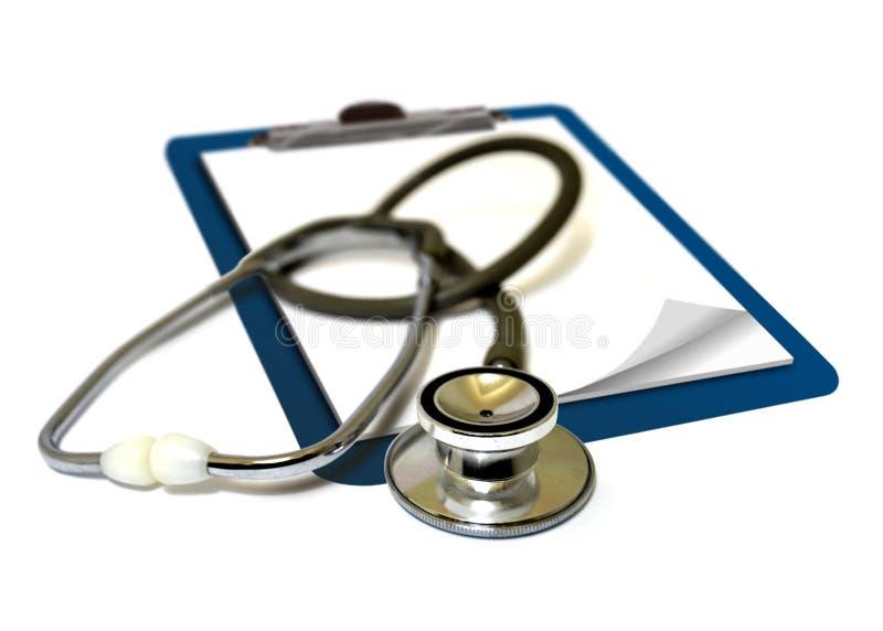Stetoskop na schowku zdjęcie stock
