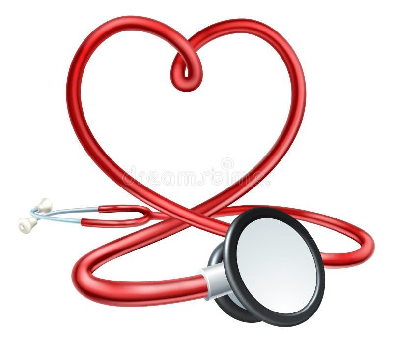 Stetoskophjärta stock illustrationer