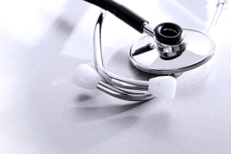 stetoskopu doktorski egzaminacyjny kierowy medyczny narzędzie zdjęcie stock