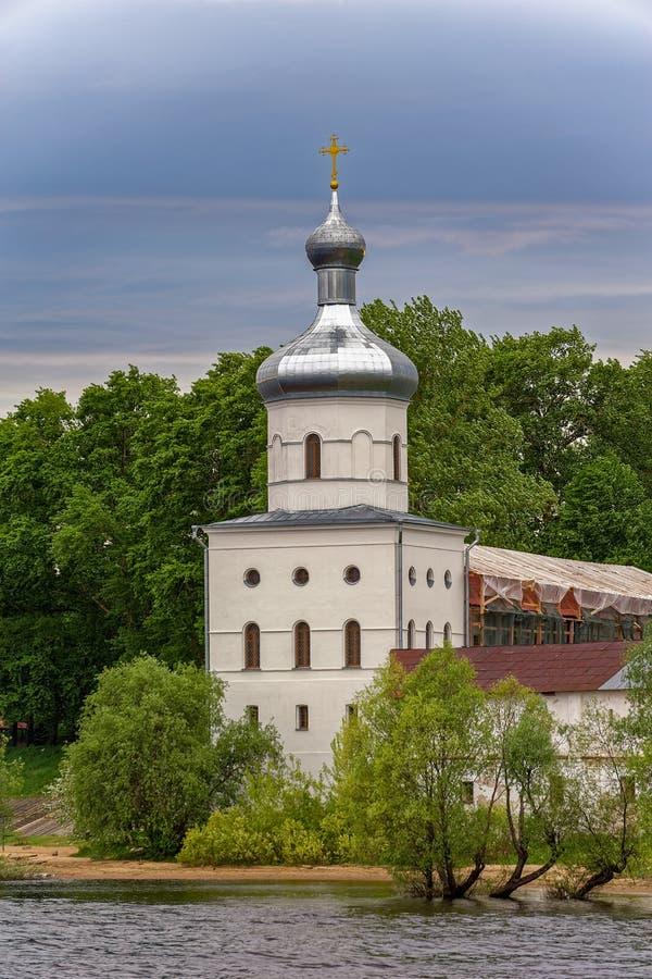 Stets George (Yuriev) ortodoxa manliga kloster på banknollan fotografering för bildbyråer