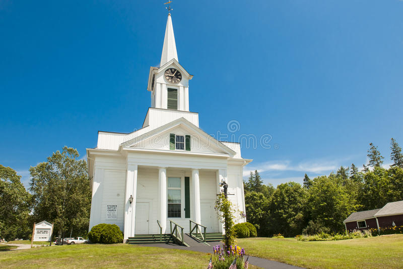 Steuben Baptist Church, Maine imagem de stock royalty free