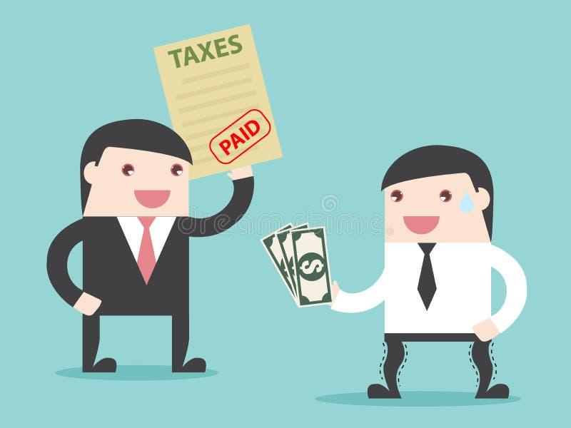 Steuer gezahlt lizenzfreie abbildung