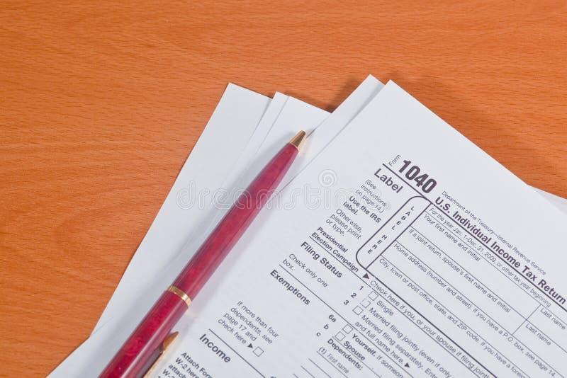 Steuer-Jahreszeit lizenzfreies stockbild