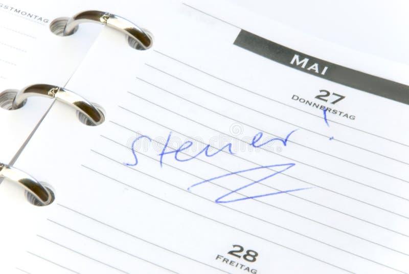 Steuer kalender stock photo