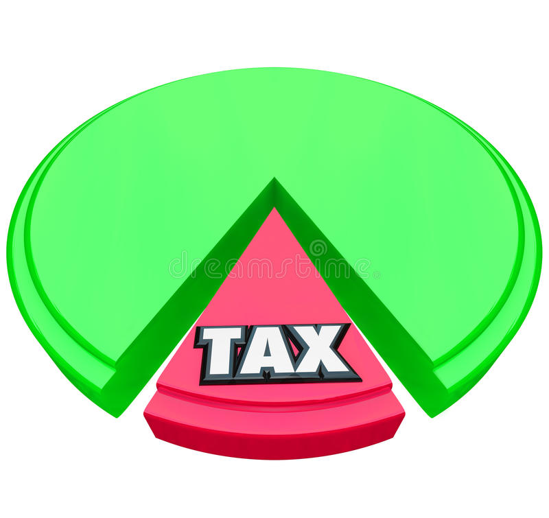 Steuer-Kreisdiagramm-Prozentsatz-Anteil-Berechnungs-Steuererklärung vektor abbildung