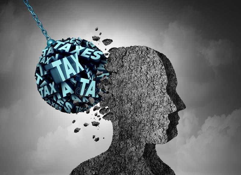 Steuer-Schmerz lizenzfreie abbildung