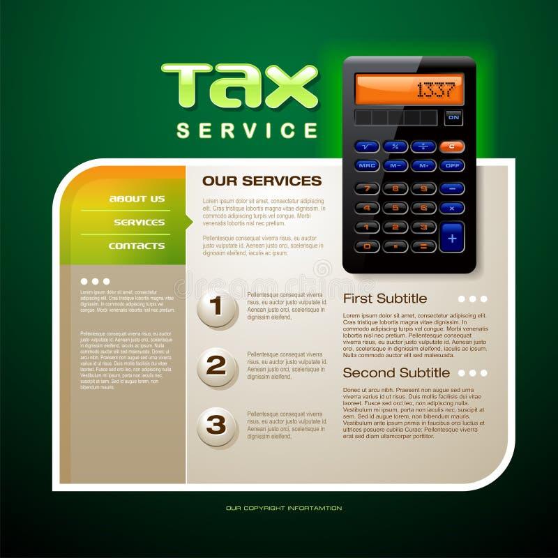 Steuer-Service-Broschüre lizenzfreie abbildung