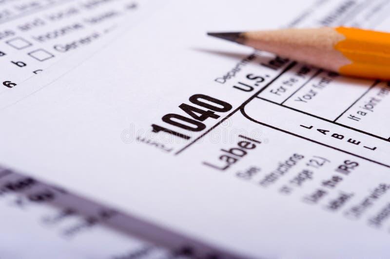 Steuer-Vorbereitung lizenzfreie stockbilder