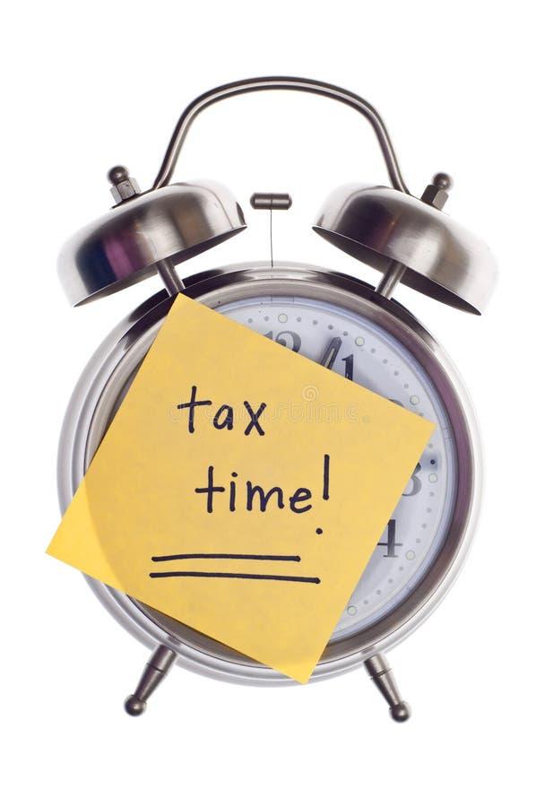 Steuer-Zeit stockbild