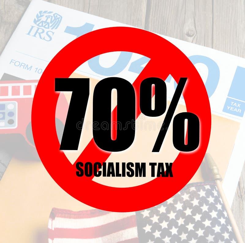 Steuer-Zeit für Sozialisten stockfotografie
