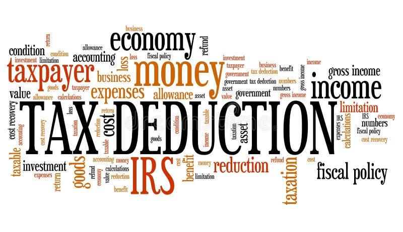 Steuerabzug lizenzfreie abbildung