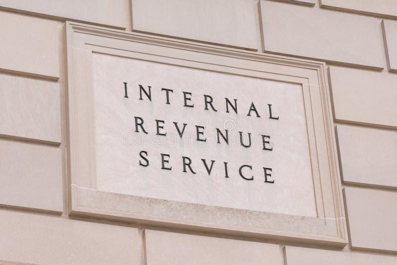 Steueraufkommen Serice-Zeichen stockfotografie