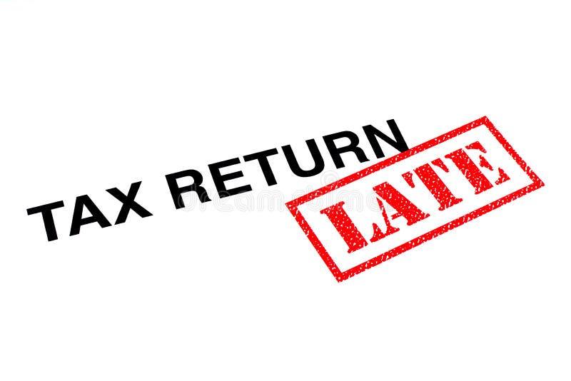 Steuererklärung spät lizenzfreie stockfotografie