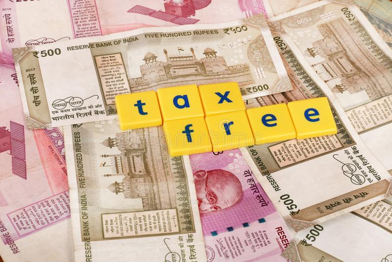 Steuerersparnisse stockbild
