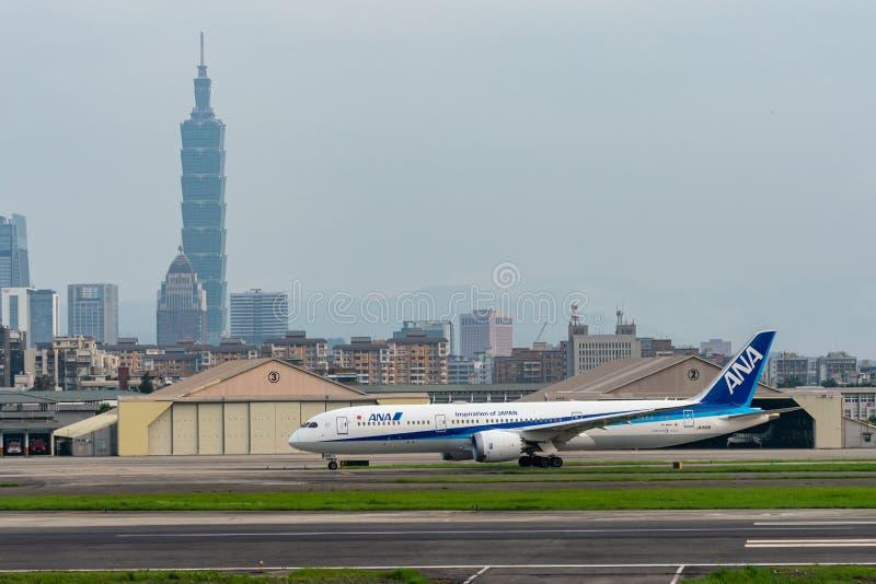 Steuerfestsetzung ANA Boeings 787-9 Dreamliner lizenzfreie stockbilder
