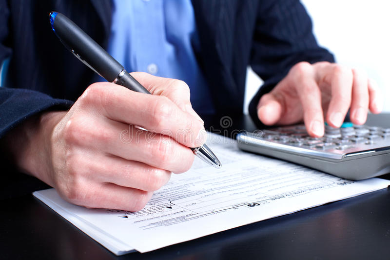 Steuerformular lizenzfreie stockbilder