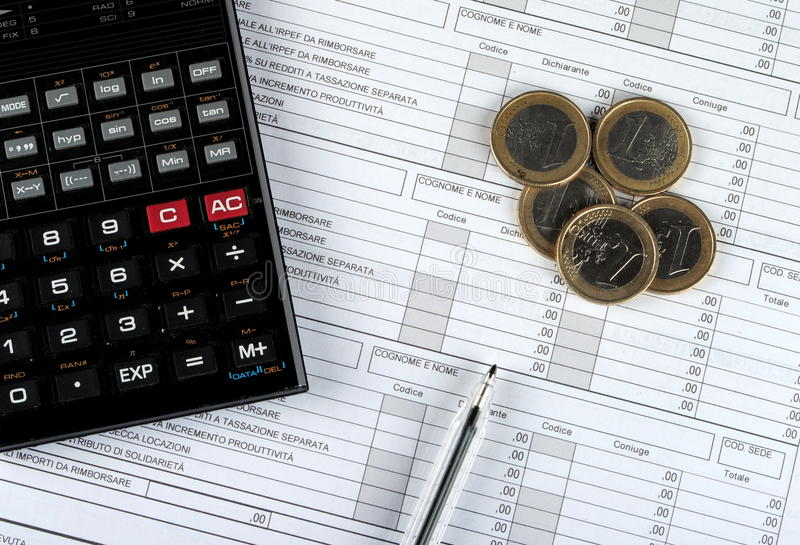 Steuerformular des Italieners 730, Ausgabe 2015 lizenzfreie stockfotografie