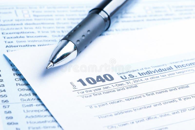 Steuerformular-Finanzkonzept stockbilder