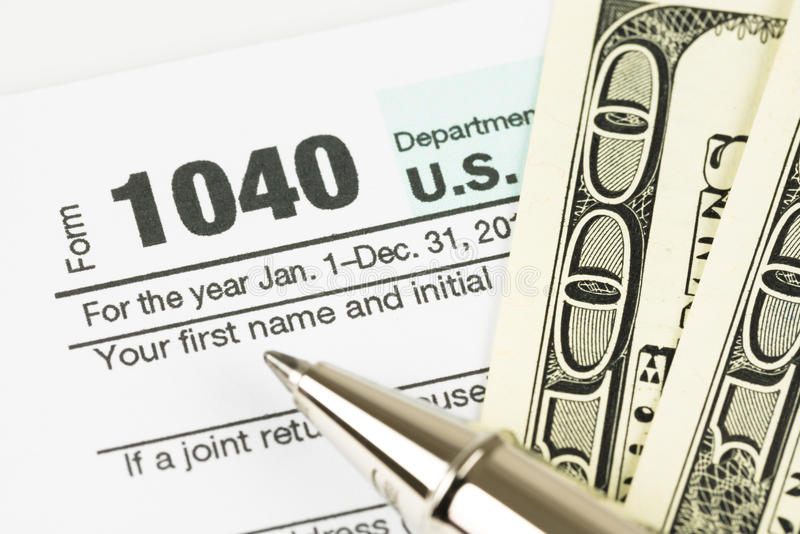 Steuerformular-Geschäftsfinanzkonzept stockfotos