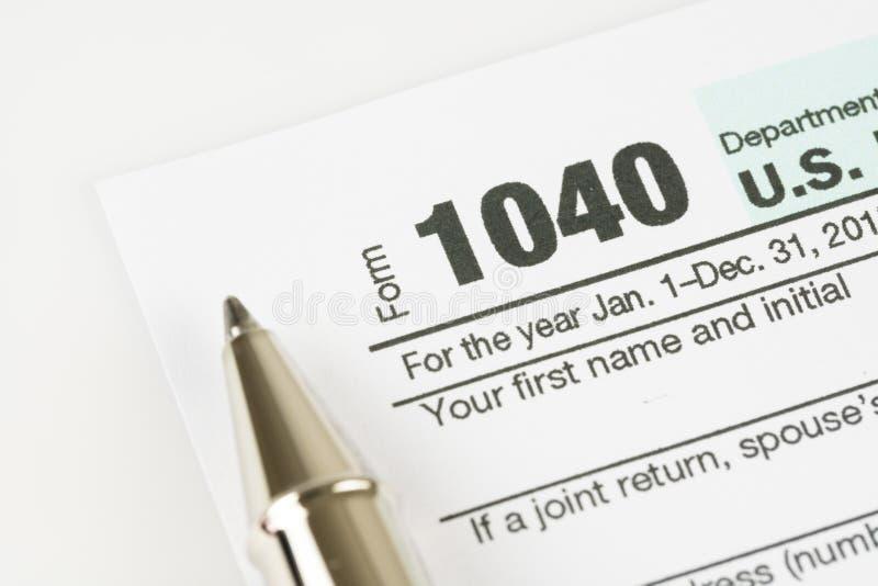 Steuerformular-Geschäftsfinanzkonzept lizenzfreie stockfotos