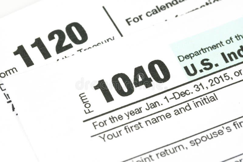 Steuerformular-Geschäftsfinanzkonzept stockbilder