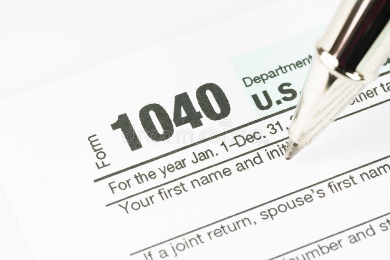 Steuerformular-Geschäftsfinanzkonzept lizenzfreies stockbild