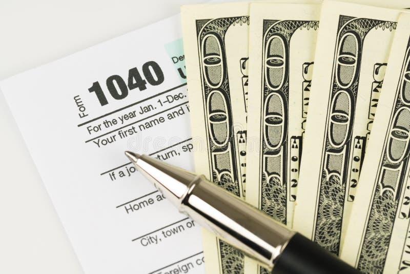 Steuerformular-Geschäftsfinanzkonzept stockfoto