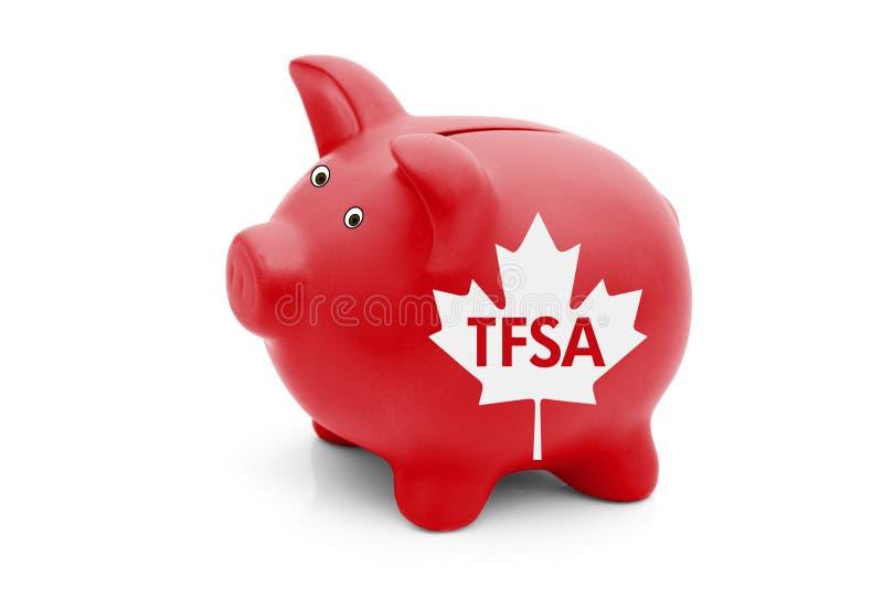 Steuerfreies Sparkonto in Kanada stockbild
