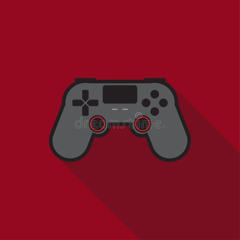 Steuerknüppel dualshock Kontrolleurspielspiel-Konsolenikone lizenzfreie abbildung