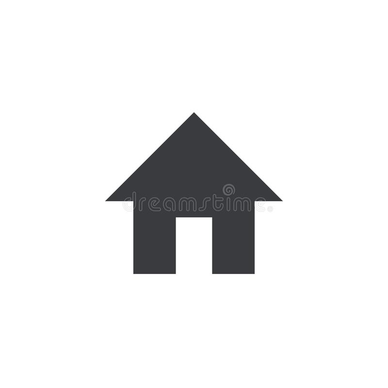 Steuern Sie Ikone automatisch an Vektorhausform Element für beweglichen App oder Website des Entwurfs Schnittstellenknopf vektor abbildung