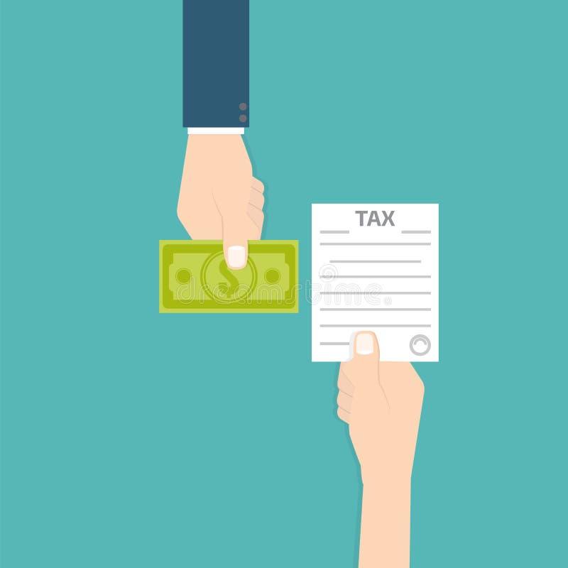 Steuerrückzahlungsikone Auch im corel abgehobenen Betrag vektor abbildung