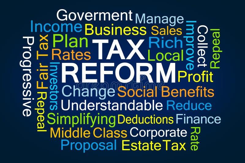 Steuerreform-Wortwolke vektor abbildung