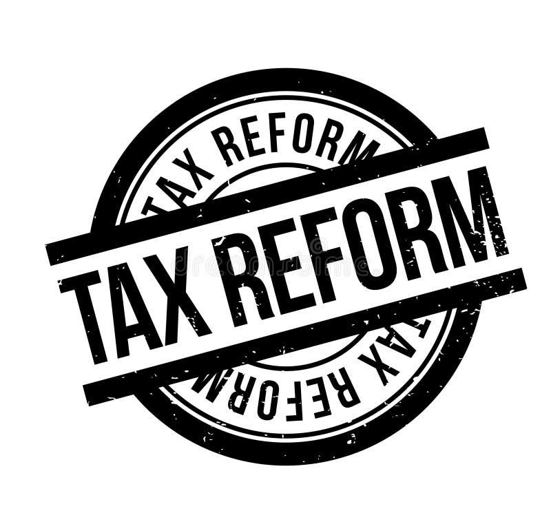 Steuerreformstempel stock abbildung