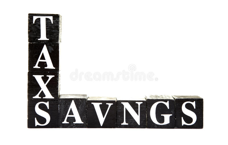 Steuersparungen lizenzfreies stockbild