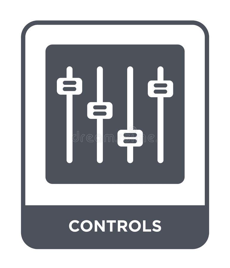 steuert Ikone in der modischen Entwurfsart Kontrollenikone lokalisiert auf weißem Hintergrund einfache und moderne Ebene der Kont lizenzfreie abbildung